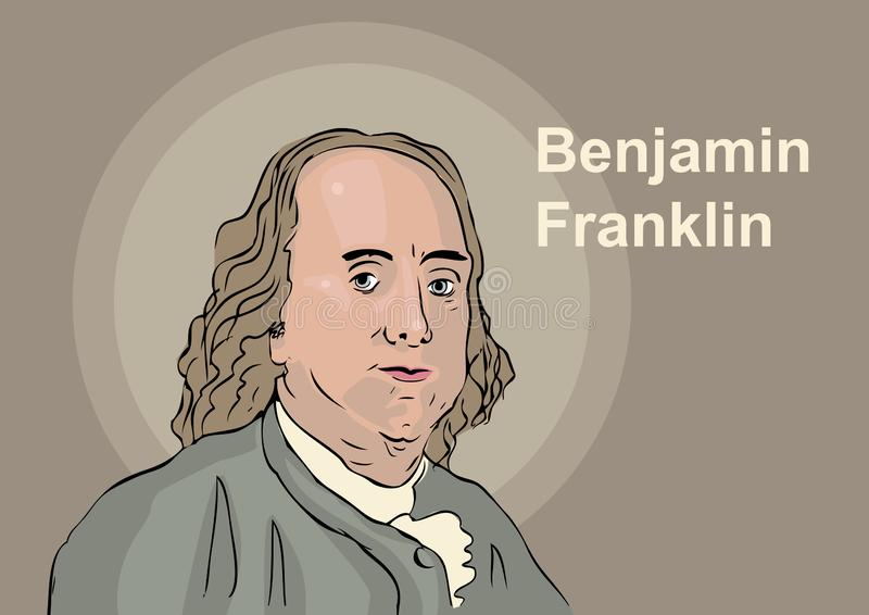 Benjamin Franklin. A vector illustration of the historical figure of Benjamin Franklin 1706 - 1790 vector illustration