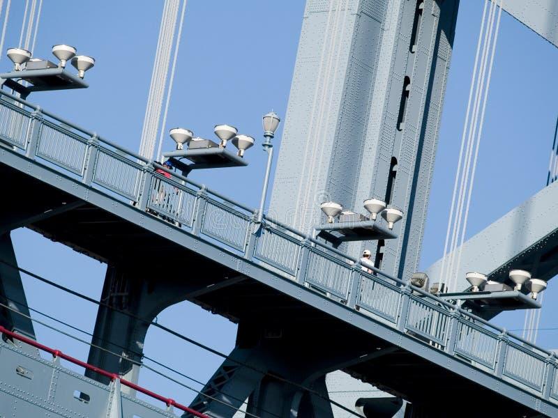 Benjamin- Franklinbrücke lizenzfreie stockbilder