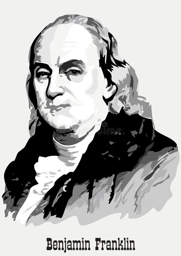 Benjamin- Franklinportrait lizenzfreie abbildung