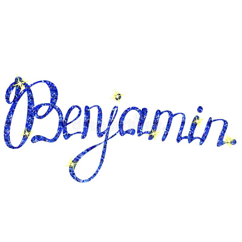 Benjamin name lettering tinsels royalty free illustration