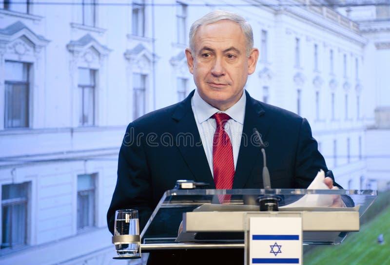 Benjamin Netanjahu fotografering för bildbyråer
