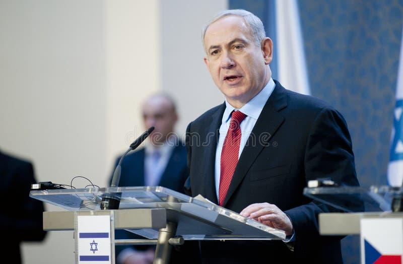 Benjamin Netanjahu royaltyfria foton