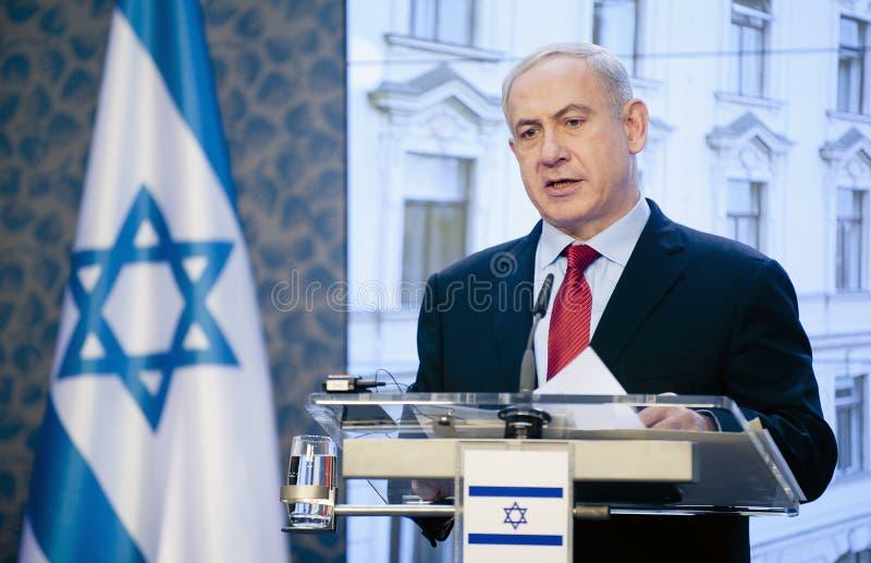 Benjamin Netanjahu royaltyfria bilder