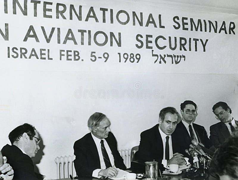 Benjamin Netanyahu stockfotos