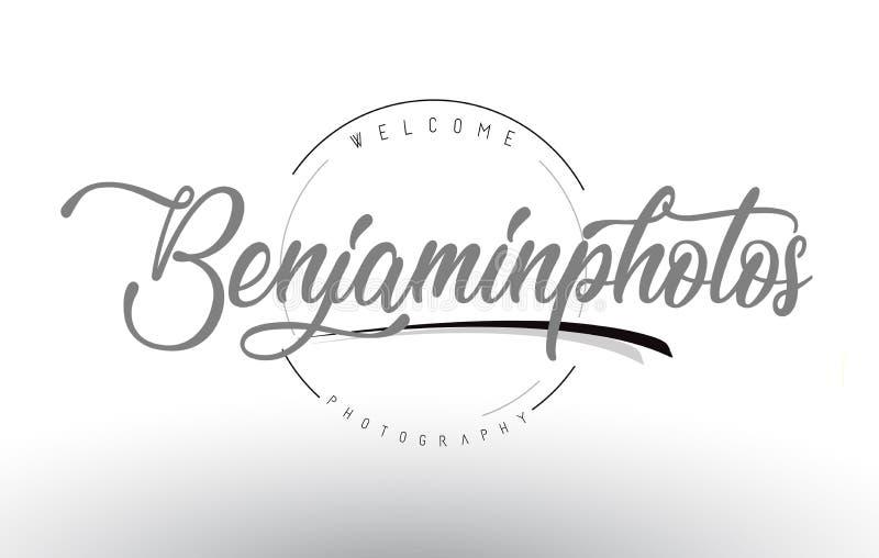 Benjamin Personal Photography Logo Design mit Fotografen Name lizenzfreie abbildung