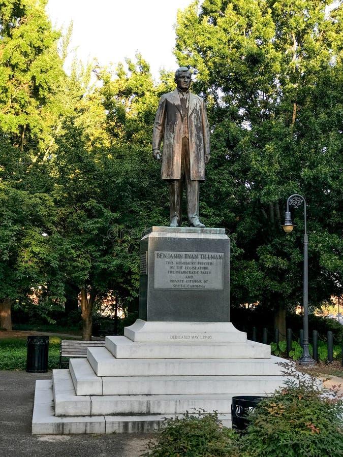 Benjamin Ryan Tillman Monument på jordningen av den södra Carolina State Capital i Columbia royaltyfri foto