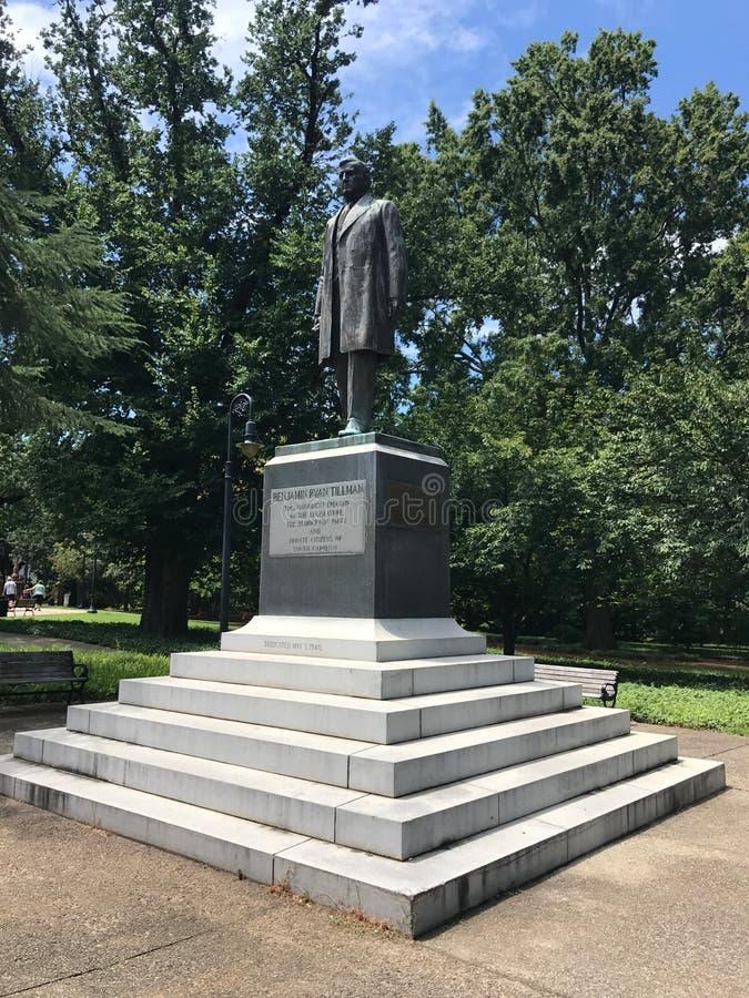 Benjamin Ryan Tillman Monument på jordningen av den södra Carolina State Capital i Columbia arkivfoton