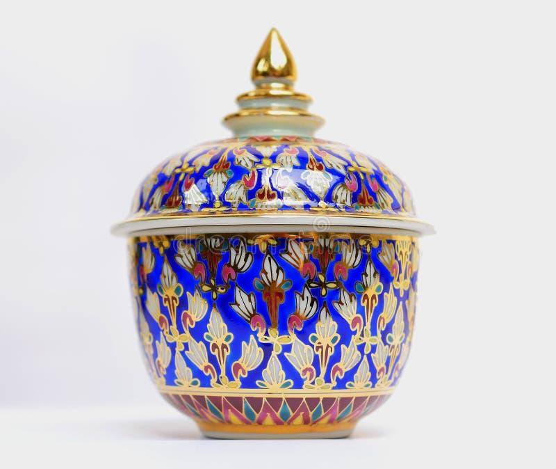 Benjarong, керамическое, фарфор, красивый от Таиланда стоковые фотографии rf