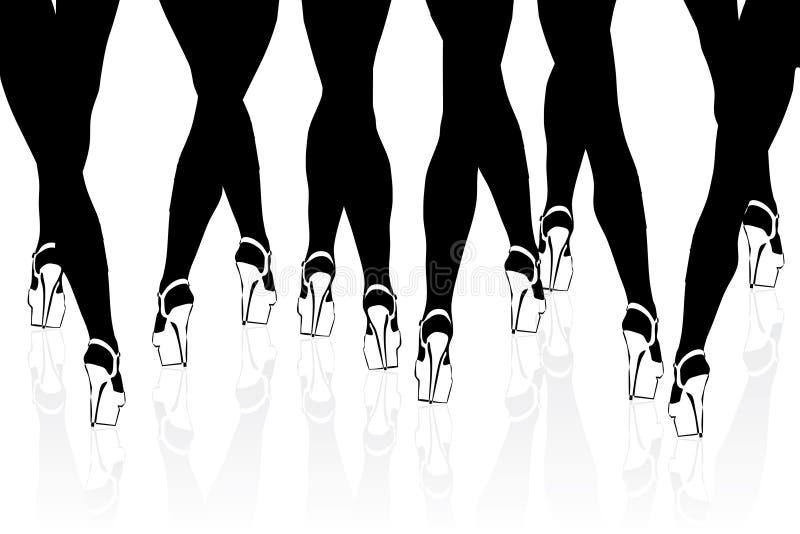 benkvinna stock illustrationer
