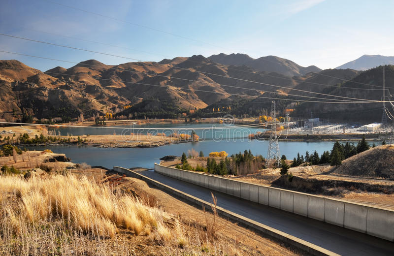 Benmore Dam Power Station, Otago New Zealand royalty free stock image
