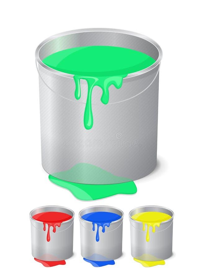 Benna con vernice illustrazione di stock