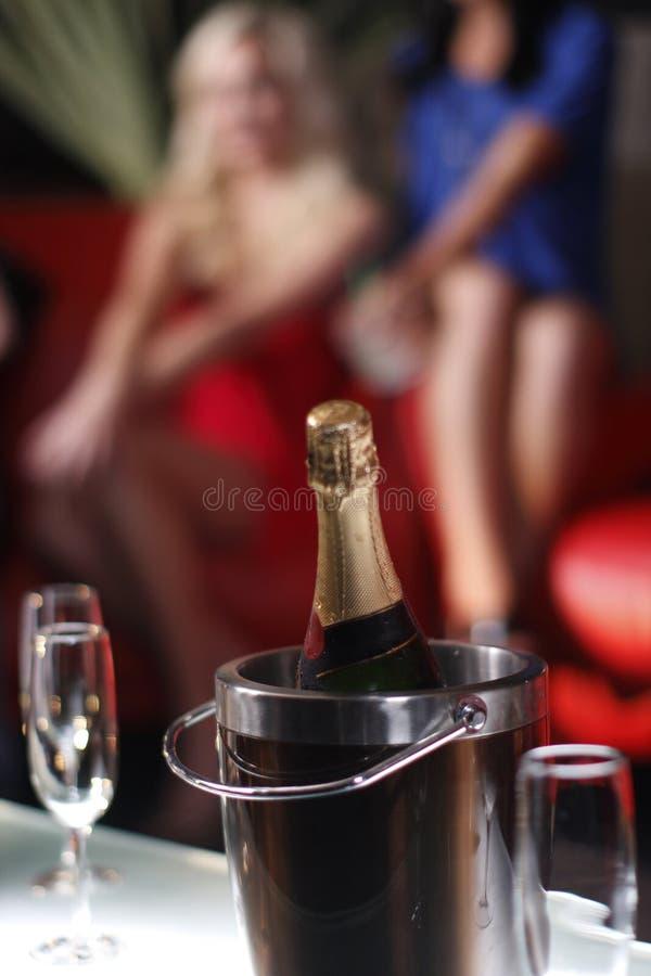 Benna di champagne immagini stock