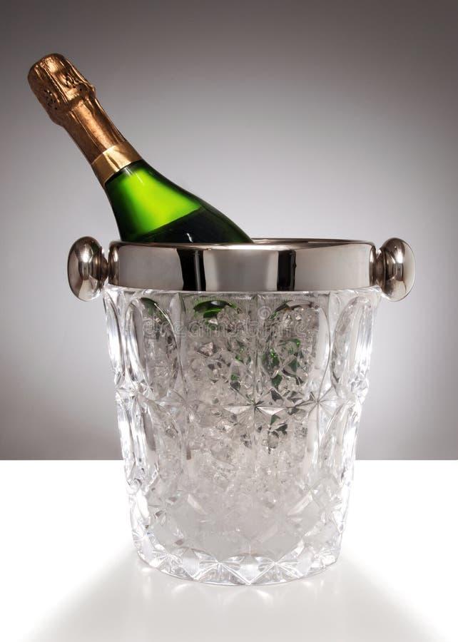 Benna di cristallo del champagne fotografia stock libera da diritti