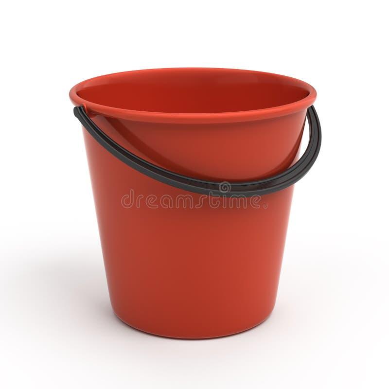 Benna di plastica rossa illustrazione vettoriale