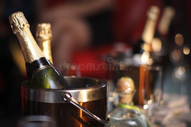 Benne di champagne immagini stock libere da diritti