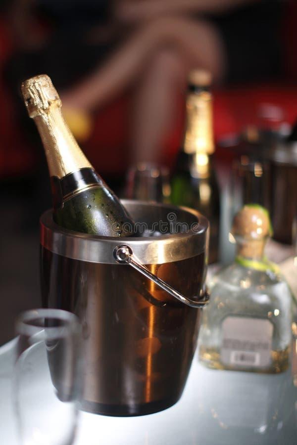 Benne di champagne fotografie stock
