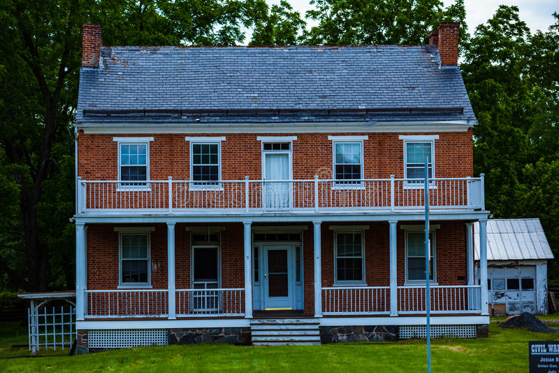 Benner gospodarstwa rolnego dom w Gettysburg zdjęcie royalty free