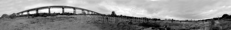 Bennerley wiaduktu monochromu panorama fotografia royalty free