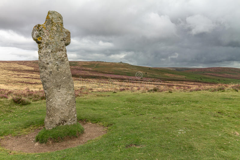 Bennets Cross Dartmoor. Bennett's Cross – why, because somebody pinched his pasty! Well hardly, Bennett's royalty free stock image