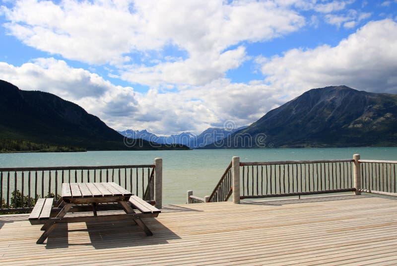 Bennett Lake, Carcross, Yukon, Canadá foto de stock