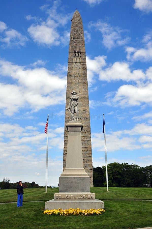 Bennington, VT : Bataille de monument de Bennington image stock