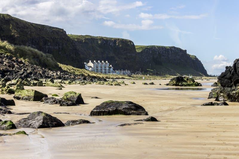 Benone-Strang, Nordirland lizenzfreie stockfotos