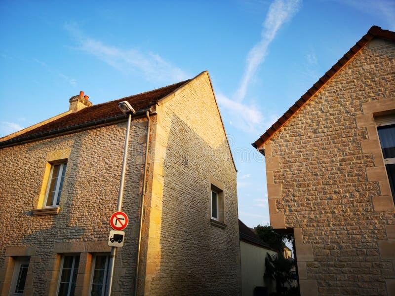 Benouville房子, Normandie法国 库存照片