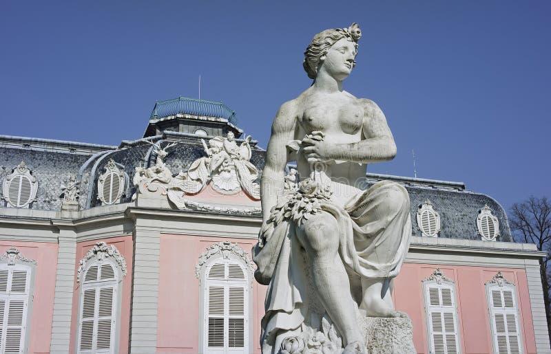 benrath城堡杜塞尔多夫德国 免版税图库摄影