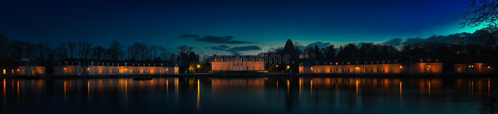 Benrath Palace. Is a Baroque-style maison de plaisance (pleasure palace) in Benrath, which is now a borough of Düsseldorf. It was erected for the Elector stock images