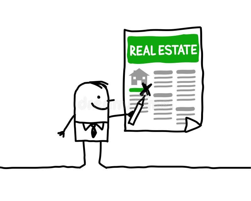 Bens imobiliários ilustração stock