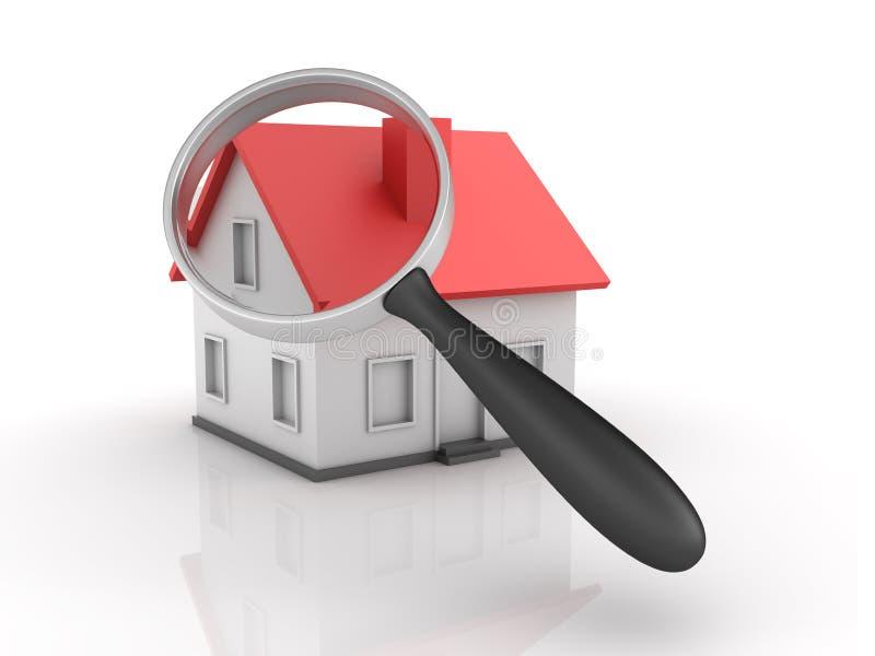 Bens imobiliários - busca de casa ilustração stock