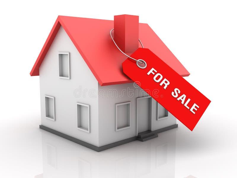 Bens imobiliários - casa para a venda ilustração do vetor