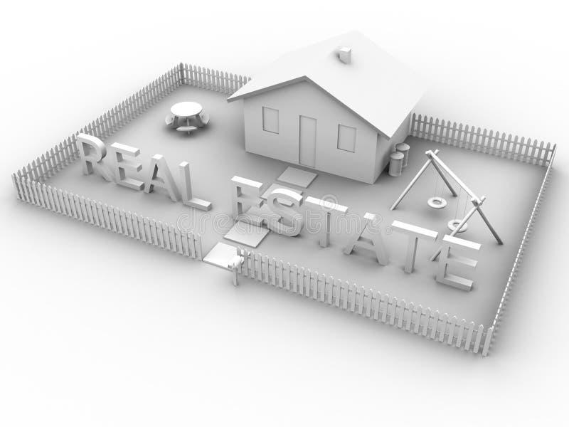 Bens imobiliários com casa 2 ilustração royalty free