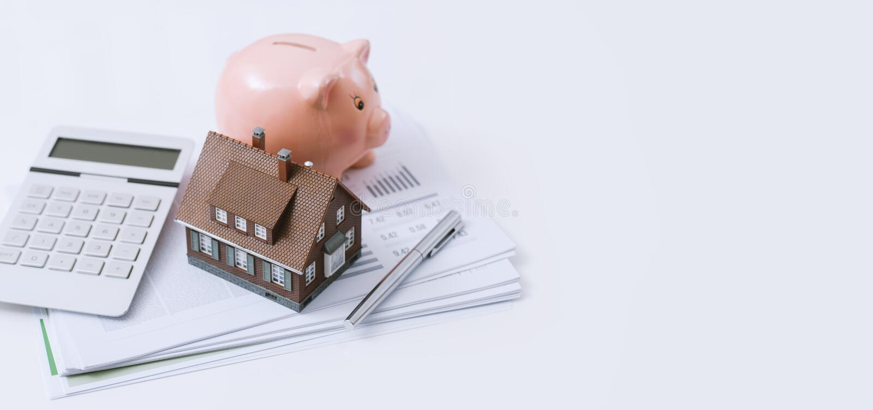 Bens imobiliários, empréstimo hipotecario e hipotecas fotos de stock royalty free