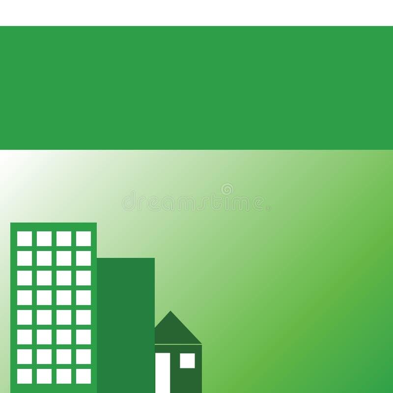 Bens imobiliários verdes ilustração do vetor