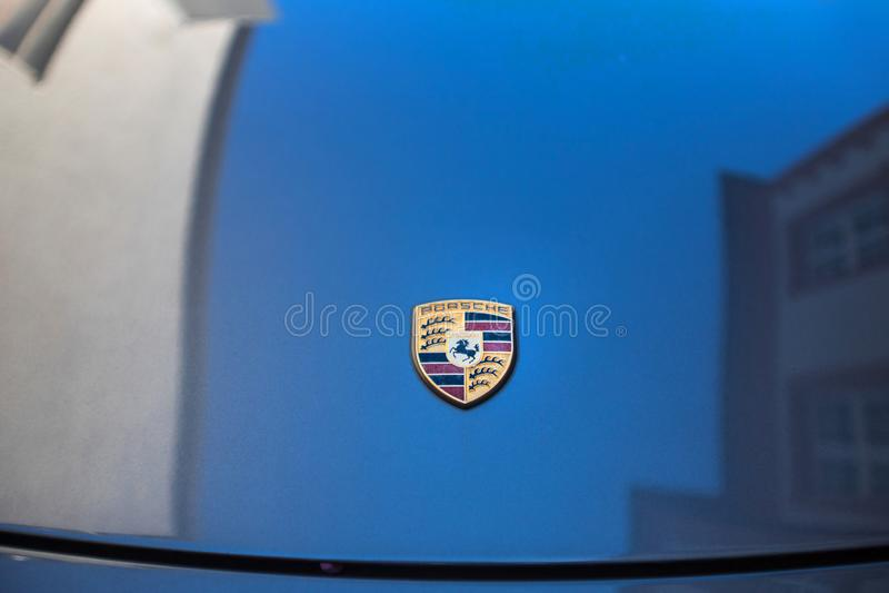Bensheim Alemania del capo del coche de Porsche imagen de archivo