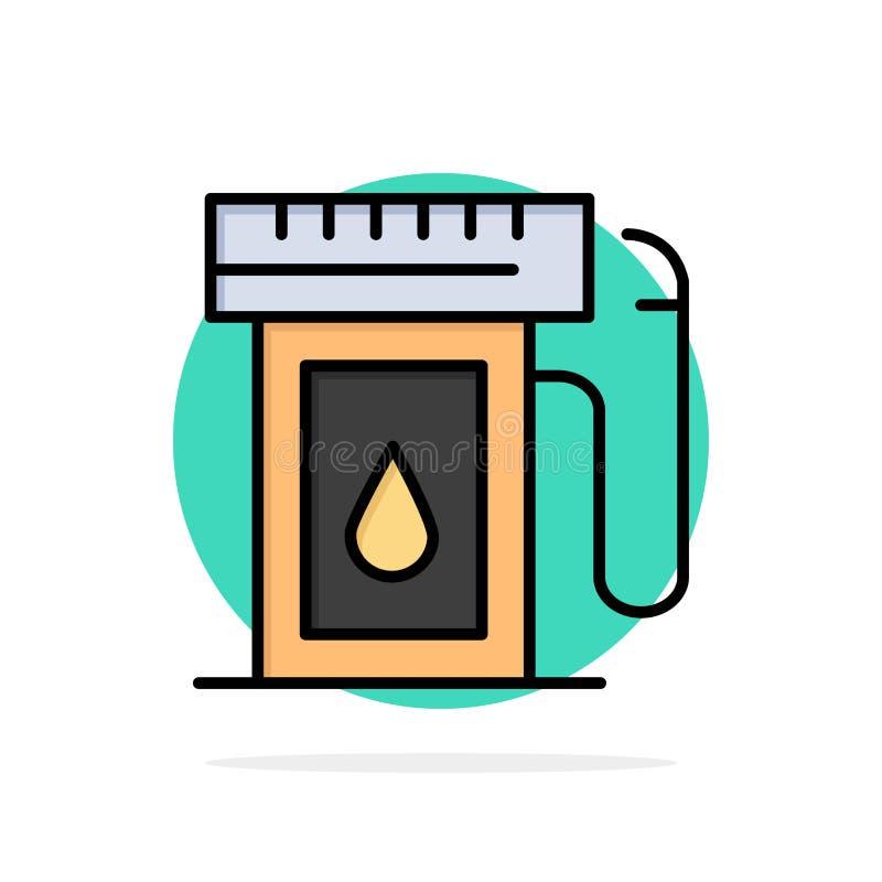 Bensin bransch, olja, symbol för färg för bakgrund för droppabstrakt begreppcirkel plan royaltyfri illustrationer