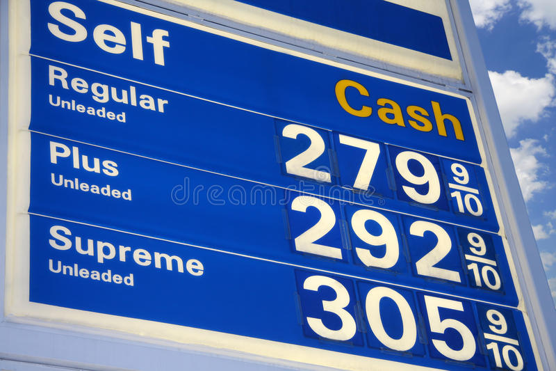 bensinpriser arkivfoto
