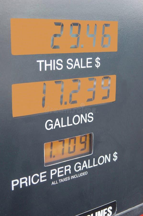bensinräkneverk royaltyfria bilder