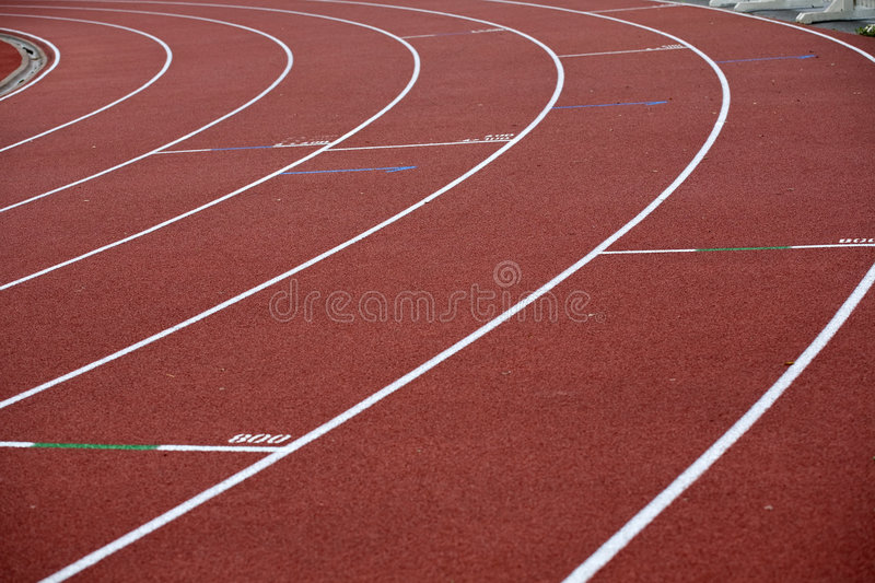 Download Bent Lines Of A Marking Of Stadium Stock Image - Image: 7994381