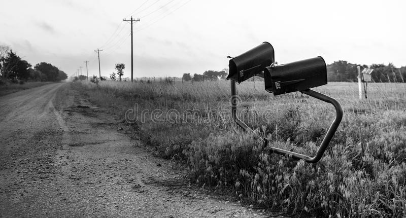 Bent Mailboxes royalty free stock images