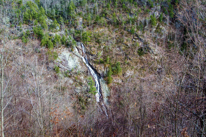 Bent Mountain Falls, Roanoke-Provincie, Virginia, de V.S. royalty-vrije stock foto