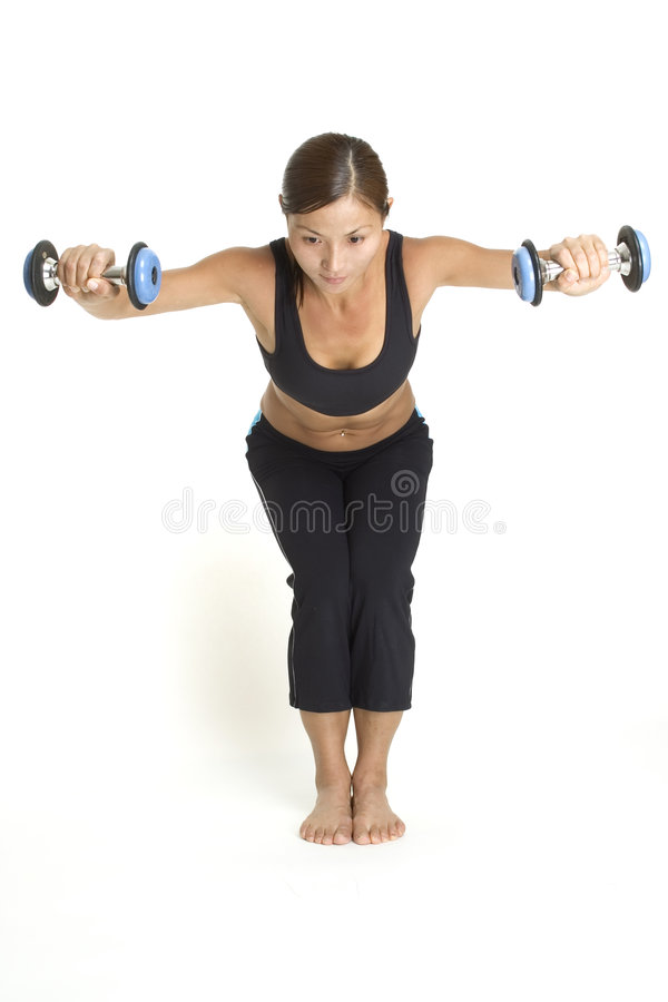 Bent Over Raise 2 stock images