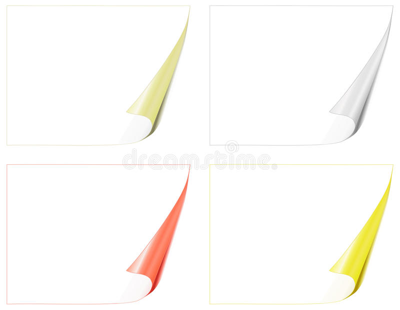 Download Bent pages stock vector. Image of canvas, business, blank - 18300099