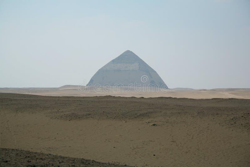Bent Pyramid de Dahshur fotografía de archivo
