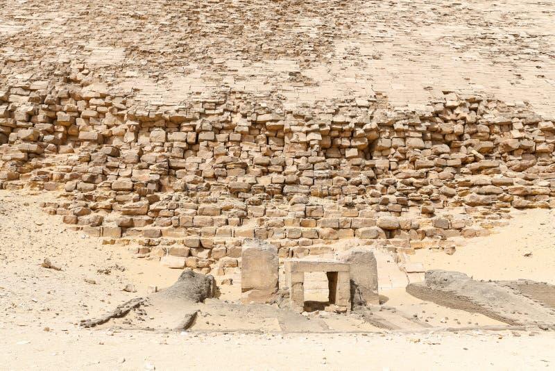 Bent Pyramid i nekropol av Dahshur, Kairo, Egypten fotografering för bildbyråer