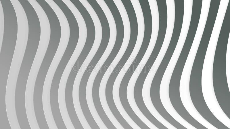 Bent Stripes Texture senza cuciture in Gray Background illustrazione di stock