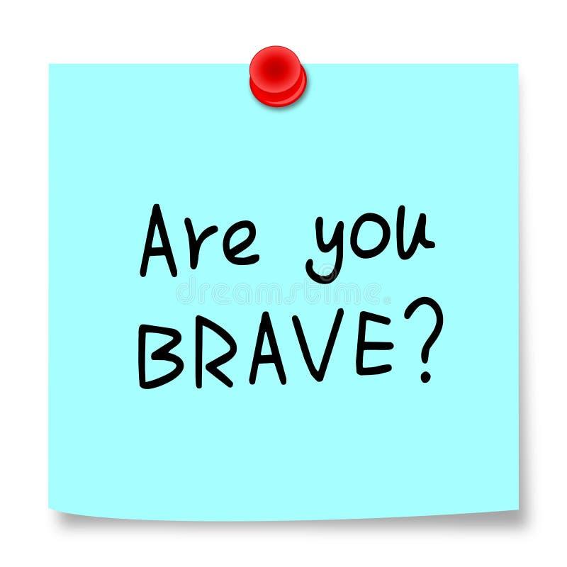 Bent u moedig? royalty-vrije stock afbeelding