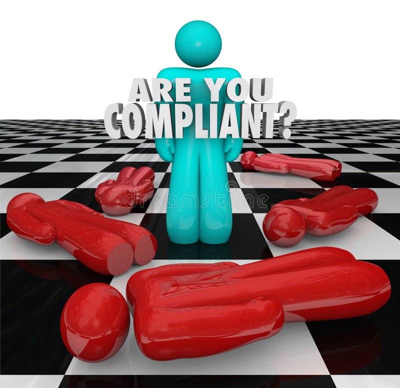 Bent u Volgzaam na Regelsverordeningen Wettelijk Proces royalty-vrije illustratie
