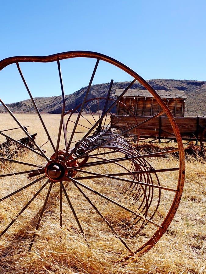 Download Bent wheel stock image. Image of west, barn, wheel, homestead - 25472803
